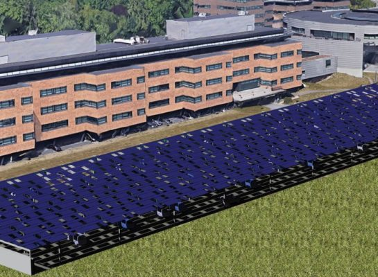 Solar carport met 3.200 zonnepanelen voor Centraal Beheer